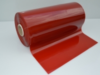 Piros hegesztő Pvc szalag-50m
