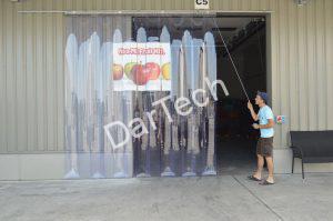 Eltolható PVC függöny c-sínnel