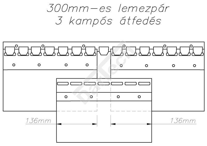 Hőfüggöny acél kampósorral