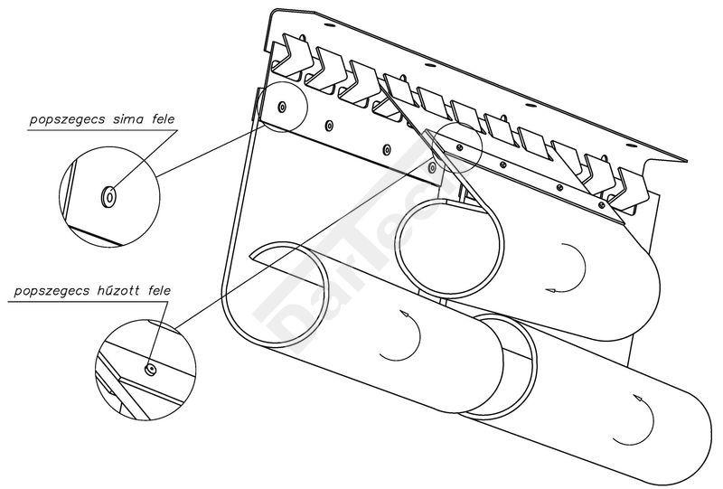 PVC hűfüggöny, szalagfüggöny