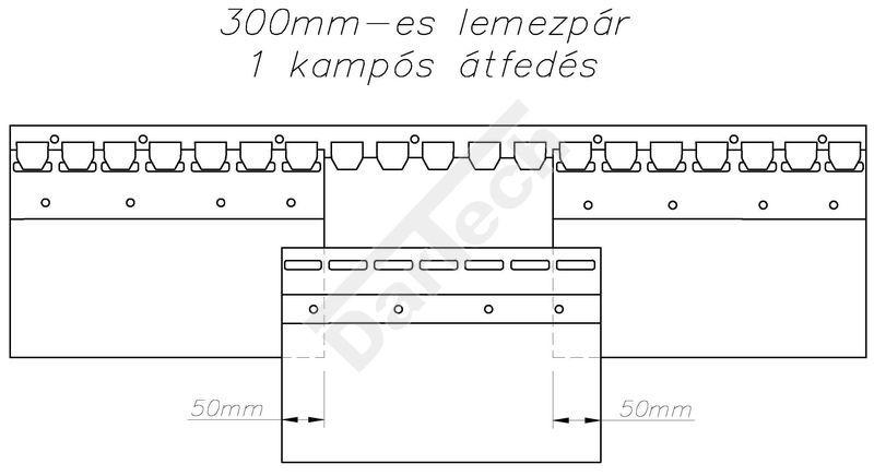 PVC szalagfüggöny, acél kampósoros