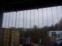 Víztiszta bordázott függöny