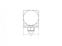 C-sín ütköző műszaki rajz