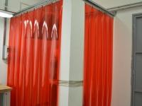 PVC hegesztő függöny piros