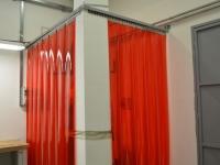 Piros PVC hegesztőfüggöny