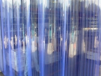 PVC hőszigetelő függöny, bordázott