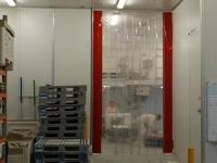 PVC hőszigetelő függöny, bordázott, jelölővel