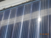 Ribbed PVC curtain
