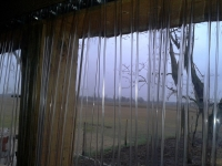 Lovarda, állati hideg ellen PVC függöny