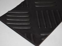 Halszálka mintás fekete gumilemez