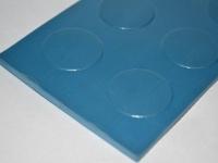 Metro mintás kék gumilemez
