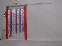 Elhúzható ipari PVC szalag függöny