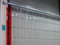 Műanyag ipari függöny acél felfüggesztéssel