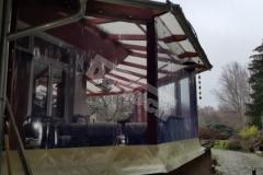 Terasz/erkély védelme, téliesítése