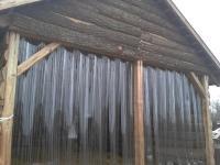 Istálló hőszigetelése PVC szalagból