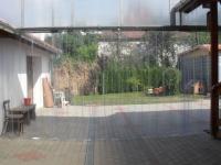Átlátszó műanyag függöny teraszra