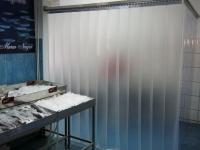 Tejüveg hatású térelválasztó függöny