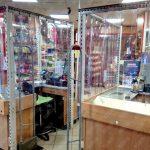 térelválasztó, átlátszó PVC